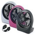 Portable Plus Battery Operated Fan & AC Adapter Included