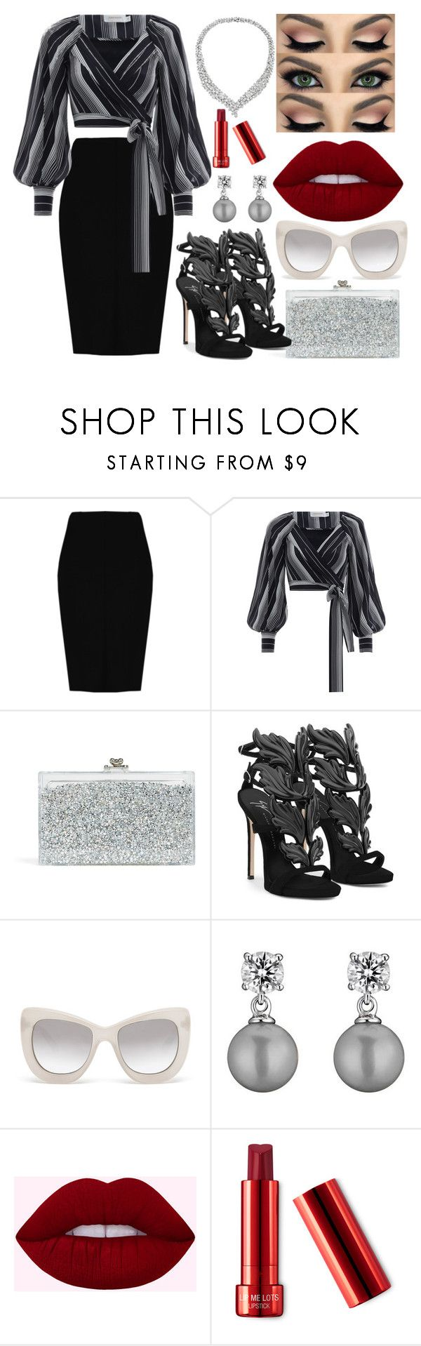 """Classy"" by chalotteleah on Polyvore featuring Boohoo, Zimmermann, Ashlyn'd, Giuseppe Zanotti, Le Specs Luxe and Collette Z"