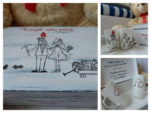 Kolejny spersonalizowany prezent ślubny.   Weeding gift for pitman & nursery