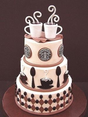 Starbucks cake  @Sanannah Grace  a starbux birthday would be so cute!
