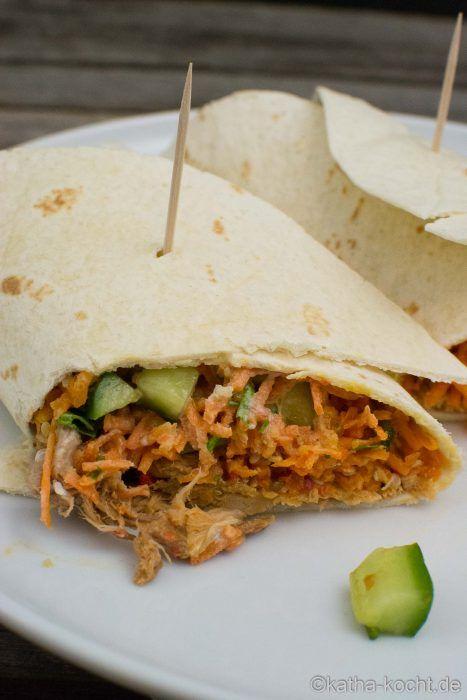 Pulled Pork Wrap mit asiatischer Füllung - katha-kocht!