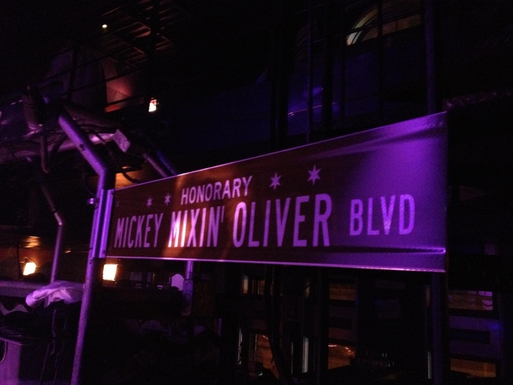 Chicago street dedicated to mickey oliver for his for Chicago house music
