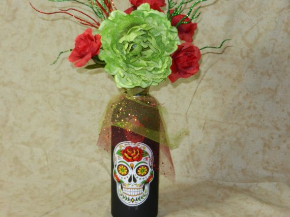 Hey, I found this really awesome Etsy listing at https://www.etsy.com/listing/492465793/sugar-skull-day-of-dead-floral-decor-art