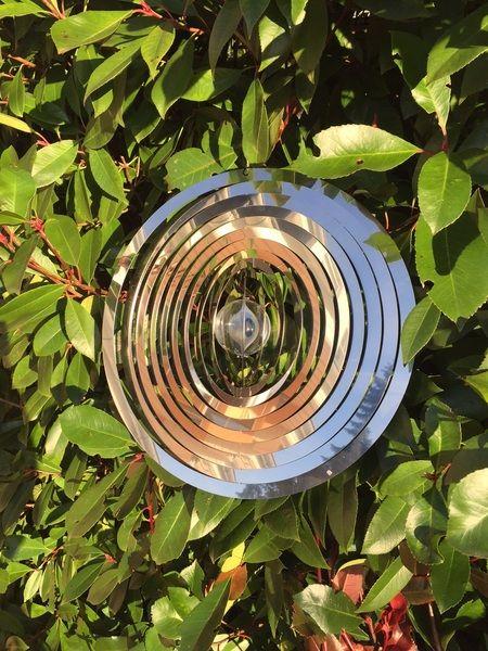 Windspiel 3D Kreise XXL - 35cm aus Edelstahl von tm-te-ha via dawanda.com