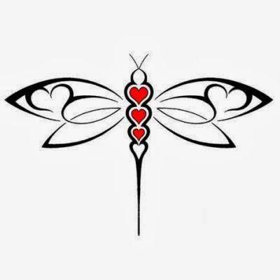 Dragonfly tattoo stencils