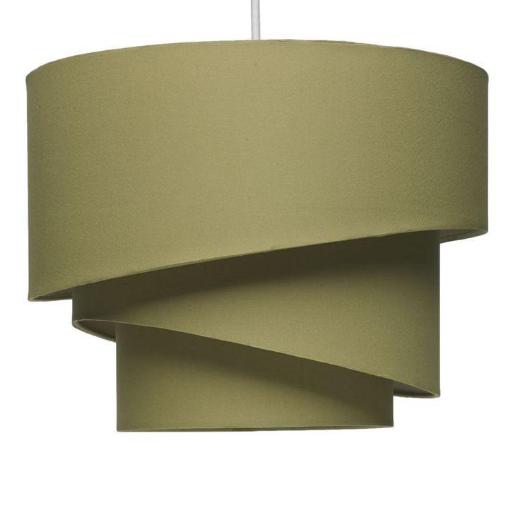 Funky Retro 3 Layer  Tier Swirl Light Shade Light Olive Living room Bedroom
