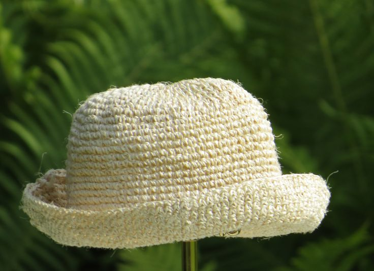 Crochet sisal hat - the perfect little thing to bring. So practical, so well made in Africa of wildgrown sisal.