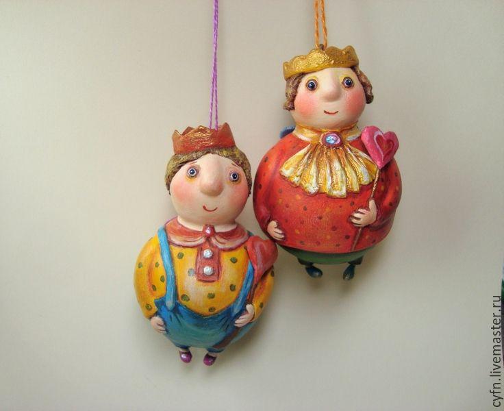 Купить Принцы - разноцветный, авторская игрушка, принц, елочная игрушка, подарок, подарок девушке