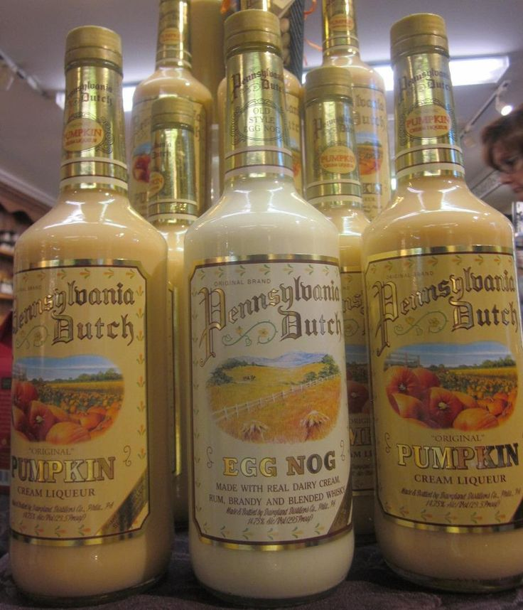 Tasty holiday libations:  Pennsylvania Dutch egg nog and pumpkin liquor. Bring a bottle to all your holiday gatherings. In the Wine Room at The Little Traveler in Geneva, IL.