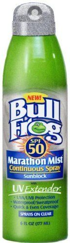 Bullfrog Marathon Mist Continuos Spray, 6-Ounce Cans (Pack of 6) by Bullfrog. $59.14