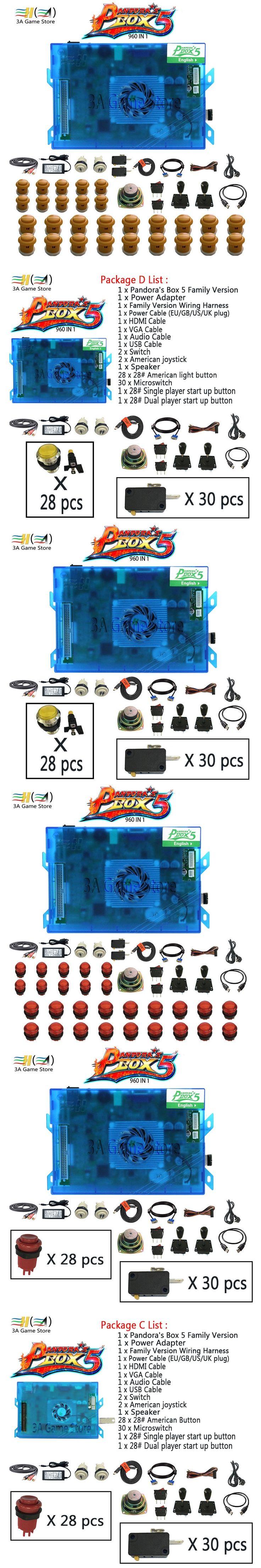 Pandora box 4 Pandora's Box 4S 680 in 1 Joysticks Arcade Stick button Accessories set joystick diy arcade controls machine parts