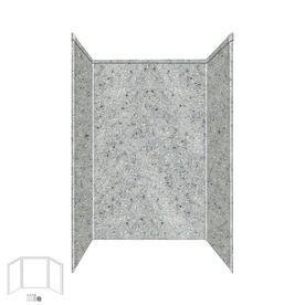 Transolid Decor Matrix Dusk/Stone Shower Wall Surround Side And Back Panels (Common: 34-In X 48-In; Actual: 96-In X 34-I