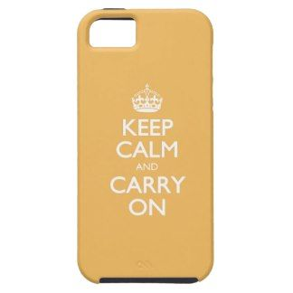 Beeswax Color Keep Calm And Carry On White Text iPhone 5 Cover