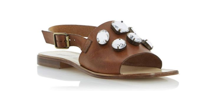 5 Gorgeous Pairs of Jeweled Flat Sandals On Sale Right Now