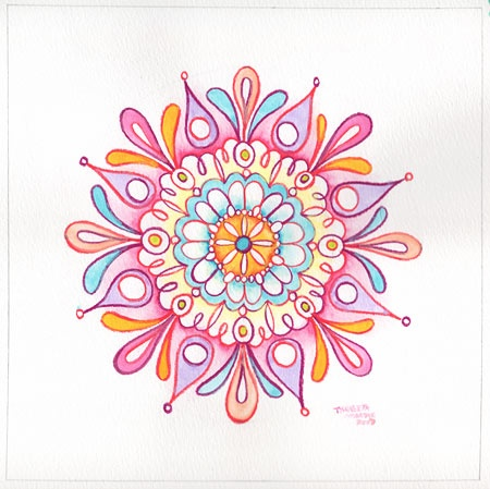 How to draw a Mandala - this chick's stuff is so cool, my stuff never looks this great.. :(