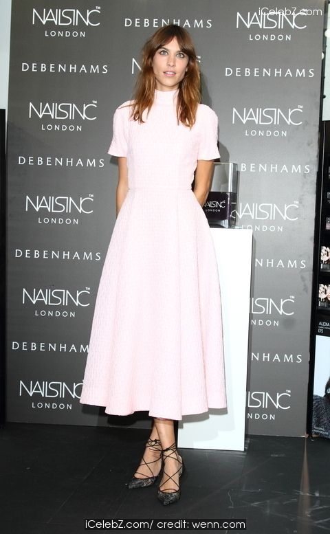 Alexa Chung  Manicure Launch at Nails Inc at Debenhams, Oxford Street http://icelebz.com/events/alexa_chung_manicure_launch_at_nails_inc_at_debenhams_oxford_street/photo1.html