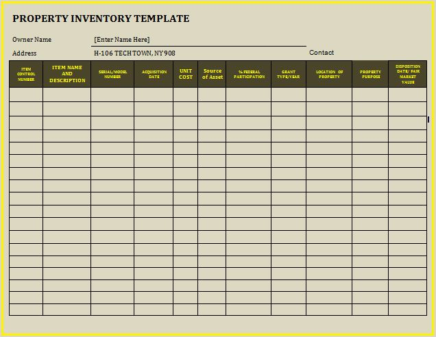 Best Landlord Inventory Templates Images On