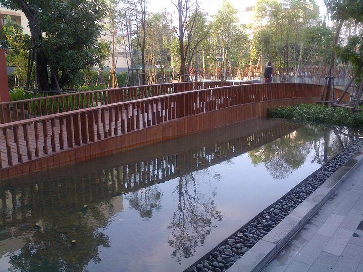Accoya® Bridge Parco, Bangkok. #accoya #wood