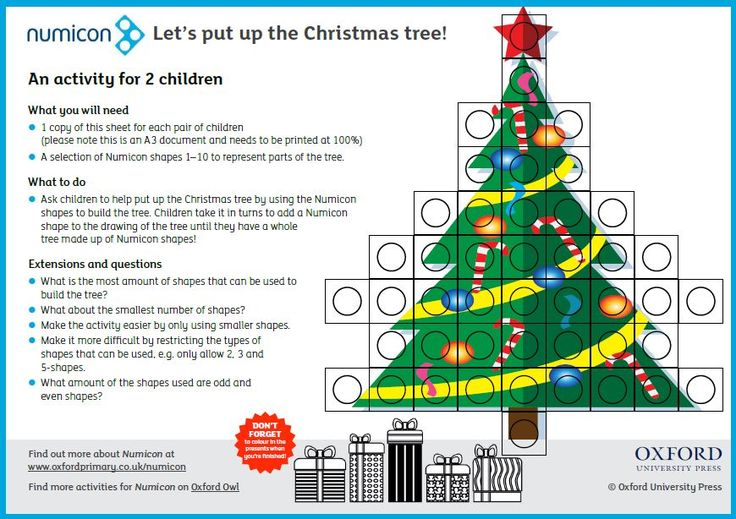 Download your printable Numicon Christmas Activity. Find out what's new in Numicon at www.oxfordprimary.co.uk/numicon and get 20% discount on resources until the 31st Dec 2017 with code XMAS20