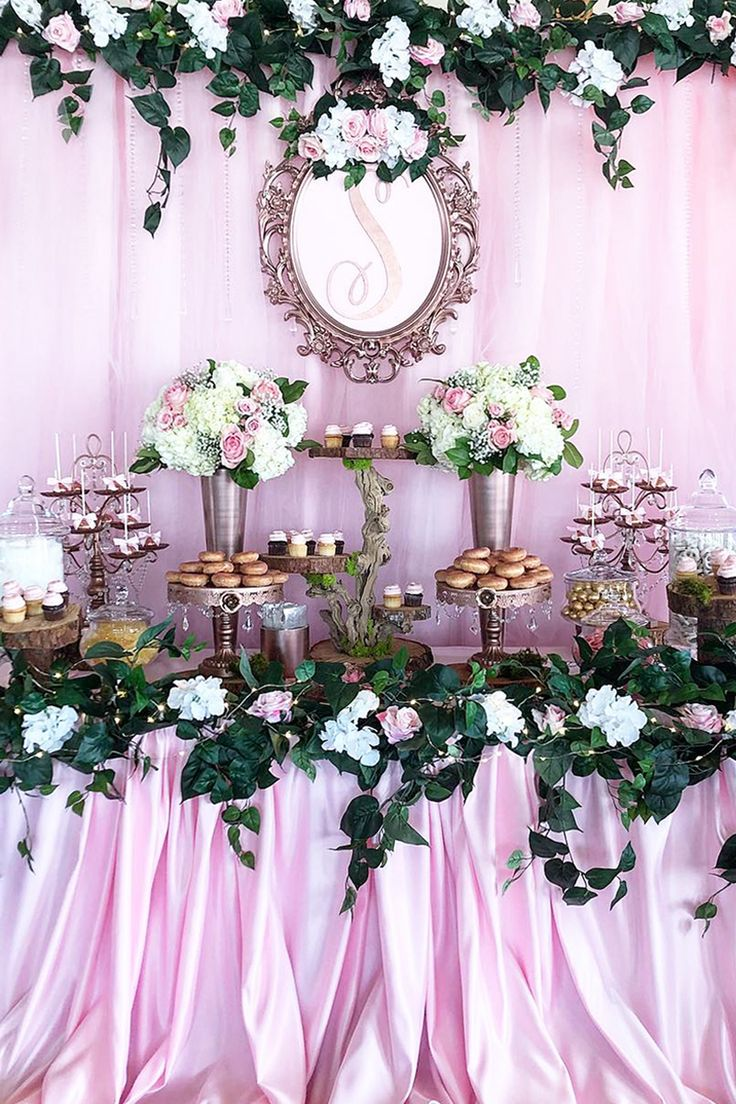 Rose Garden Creations: Pink Garden Dessert Table Styled By Bizzie Bee Creations
