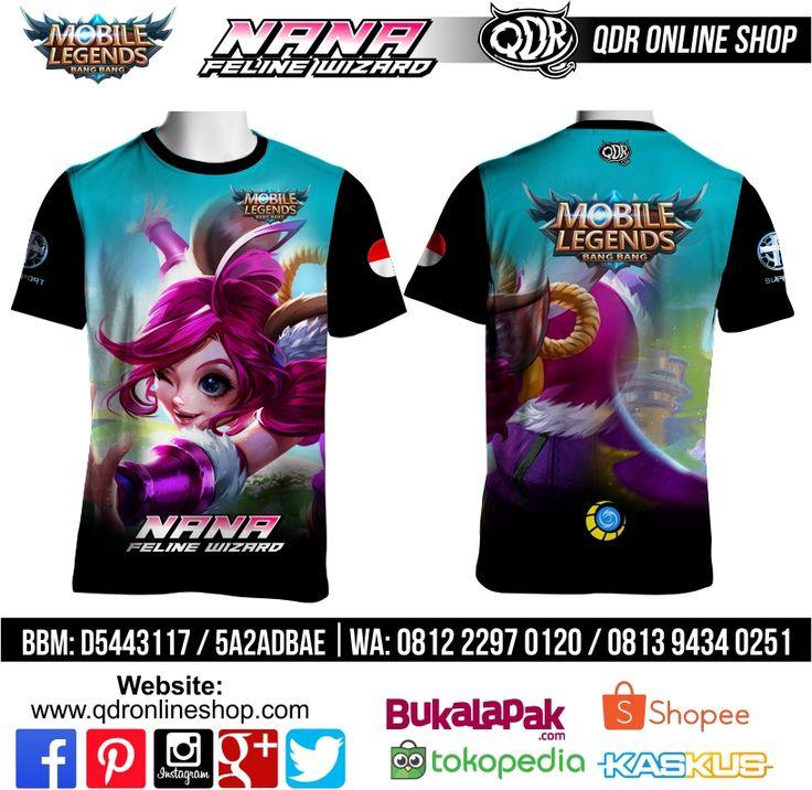 T-Shirt Mobile Legends Nana Skin Feline Wizard untuk pemesanan: BBM D5443117 / 5A2ADBAE (Qdr online shop) WA/LINE 081222970120 / 08129434025 http://www.qdronlineshop.com
