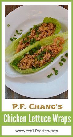 Chang's Chicken Lettuce Wraps Recipe. One of my all time ...