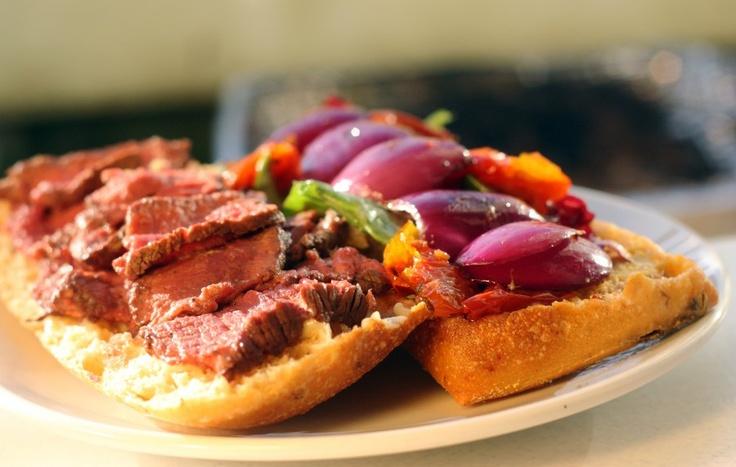 Barbequed Steak Sandwich