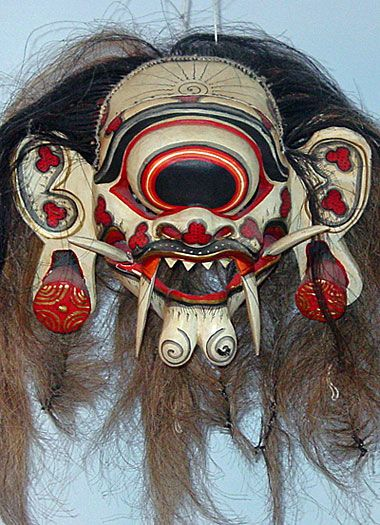 The one-eyed witch is called Leyak Mata Besik. She is associated with the practice of black magic in Bali.