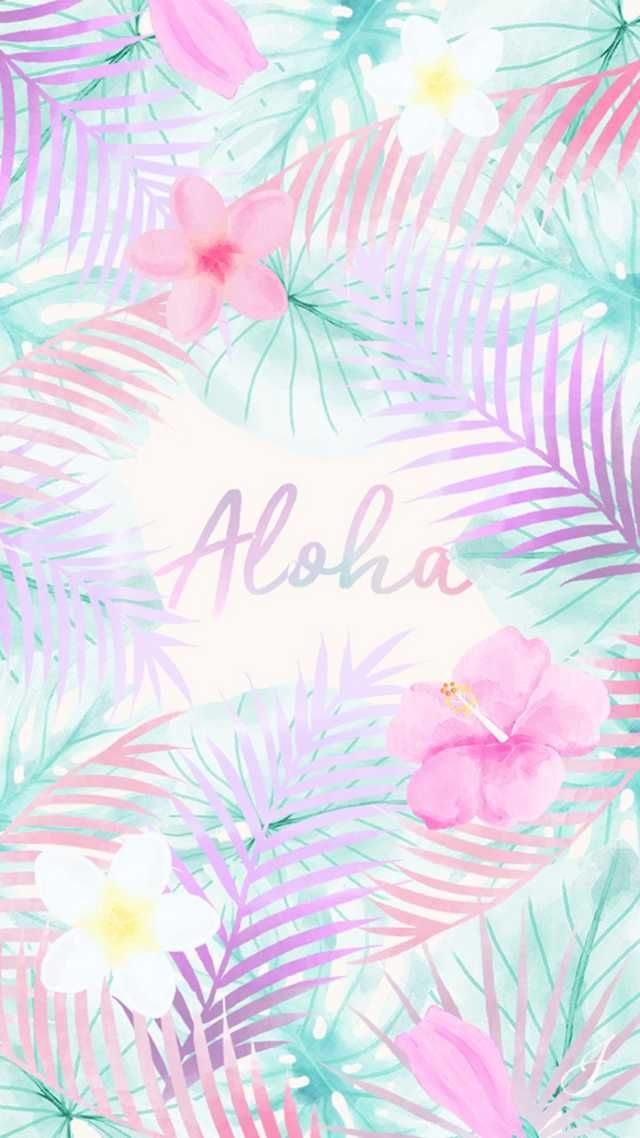 Summer Aloha Flowers Pastel Pastelbackground Background Wallpaper Cute Wallpaper Backgrounds Cute Wallpapers Iphone Wallpaper