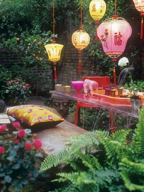 .japanese lantern garden