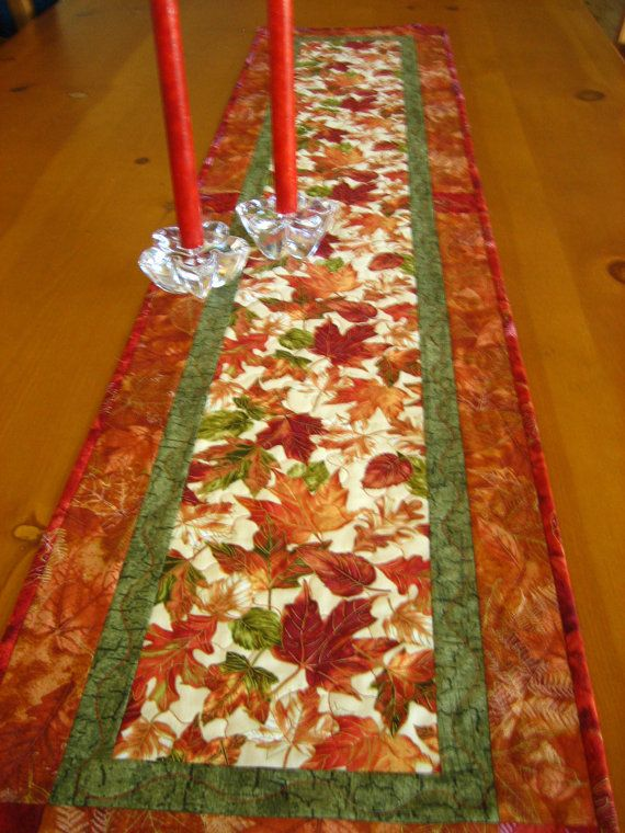 Autumn Blaze Quilted Table Runner