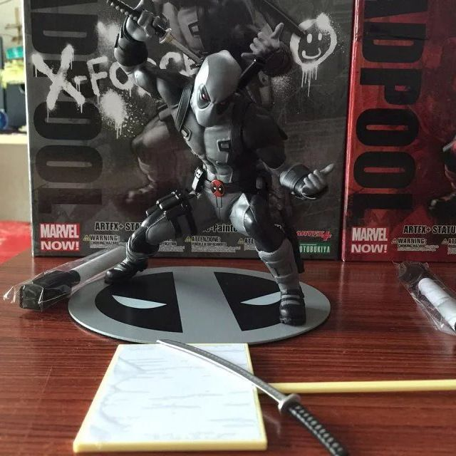 Deadpool Figure Grey Limited X Force Wade Wilson ARTFX+ X MEN Weapon X CIVIL WAR Iron Man Wolverine PVC Action Figure Model //Price: $US $18.89 & FREE Shipping //     #clknetwork