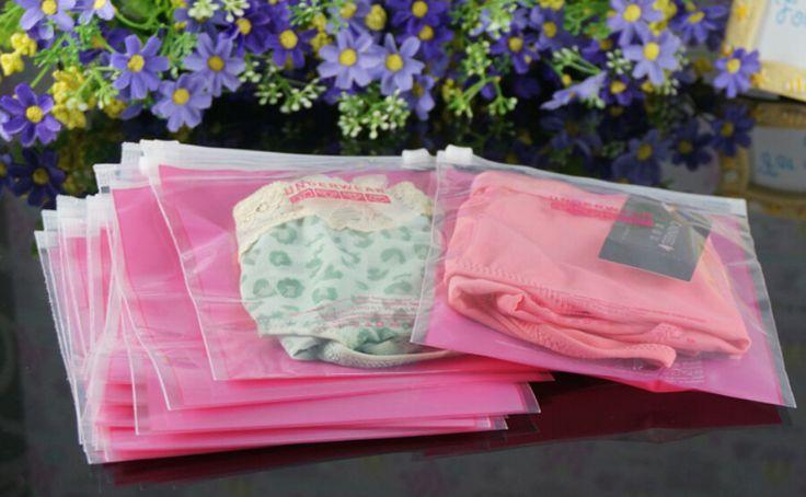 zipper lock plastic shopping package bag