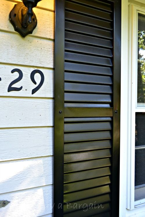 How to Spray Paint Shutters for an thrifty exterior update.