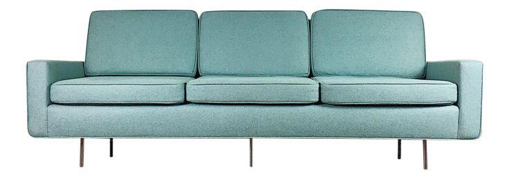 Blue Florence Knoll Sofa on Chairish.com