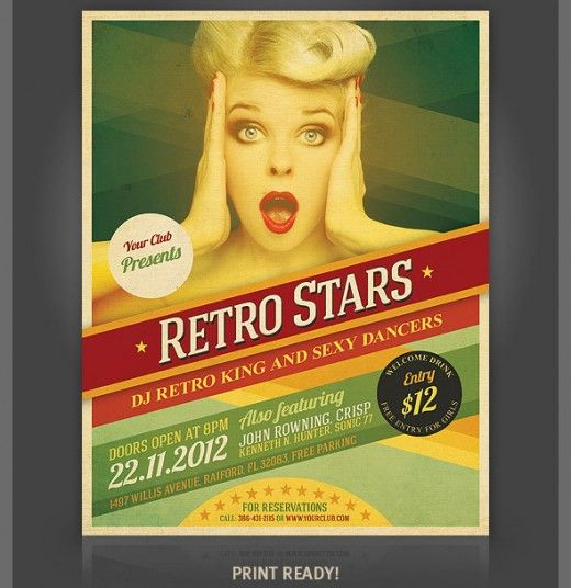 58 Best Retro Inspired Flyer Images On Pinterest | Flyers, Flyer