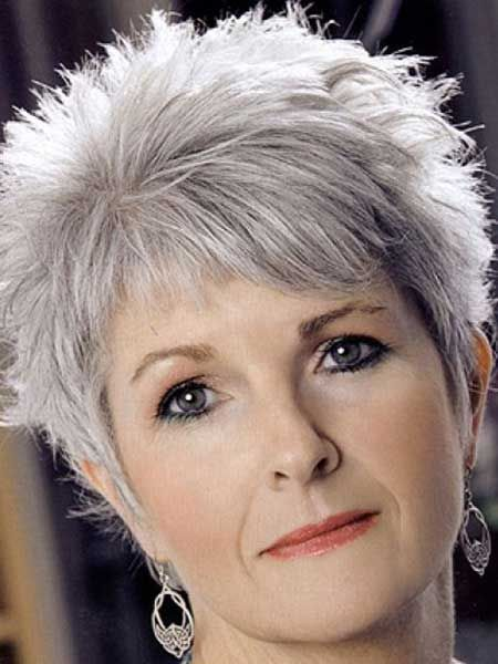 Short Hairstyles for Grey Hair - BecomeGorgeous.com