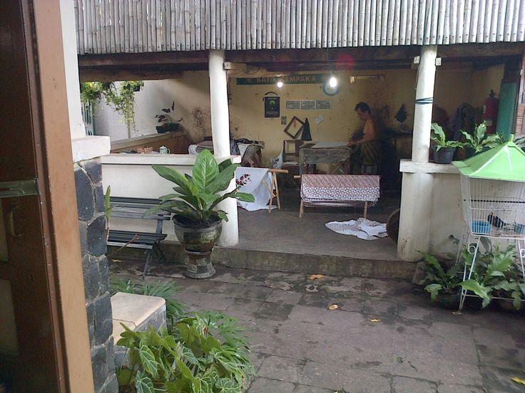 making stamp batik traditionally