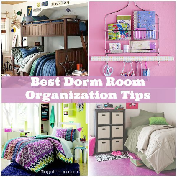 Simple College Dorm Organization Tricks