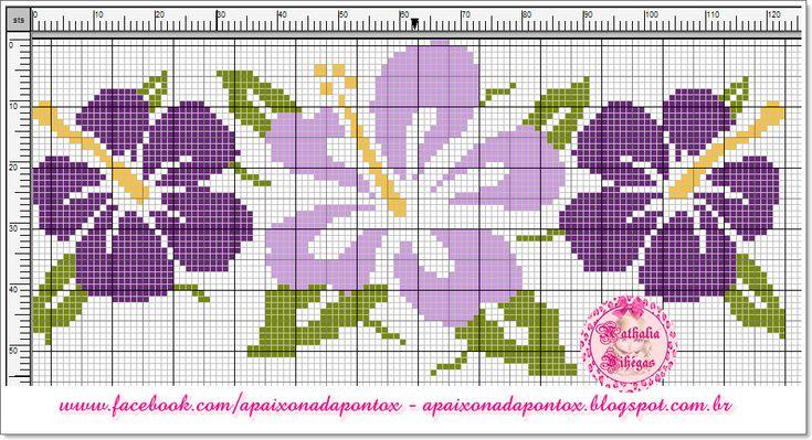 Apasionado por el punto de cruz: Flores - Hibiscus