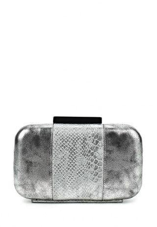 Клатч Nano de la Rosa, цвет: серебряный. Артикул: NA003BWDNR34