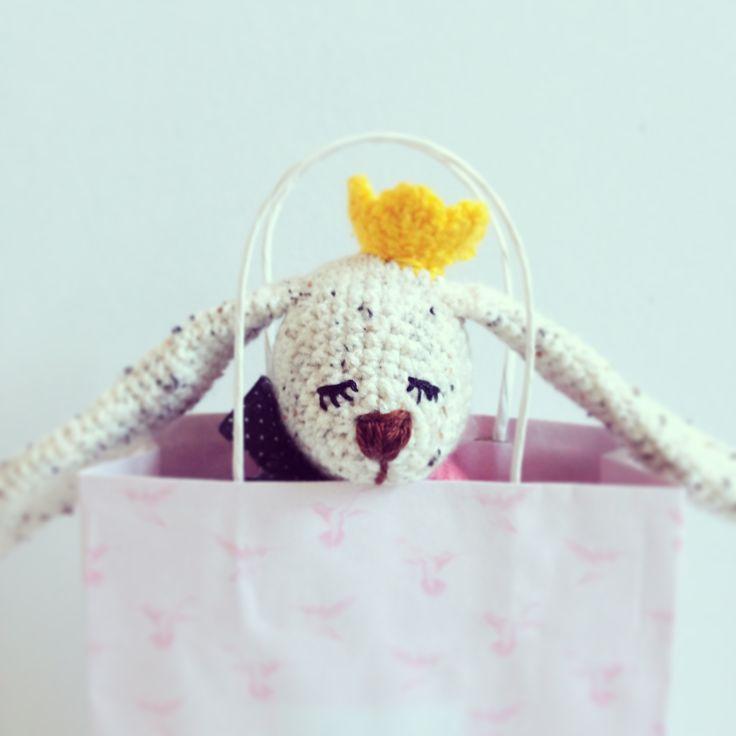 Princess Bunny #crochet #crochettoy #bunny #toy
