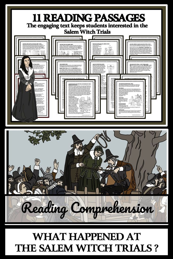 Salem Witch Trials Reading Passages Comprehension Questions Reading Passages Salem Witch Trials Facts Witch Trials