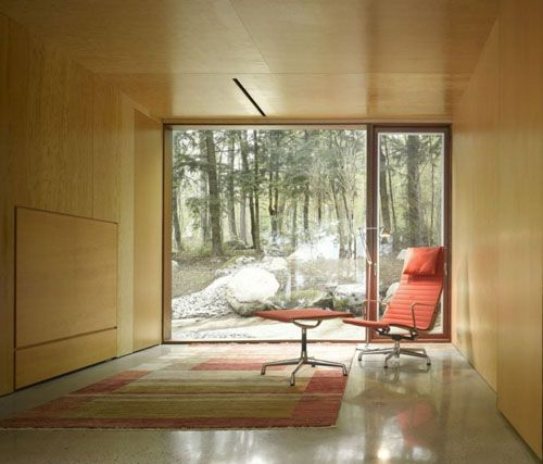 Clear Lake Cottage / MacLennan Jaunkalns Miller Architects (perfect - empty room, and that one Eames chair)