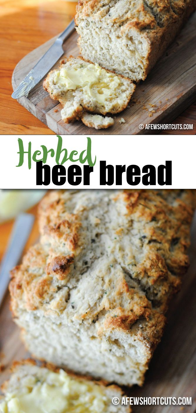 What a simple bread recipe that anyone can make quick and easy! Check out this delicious Herbed Beer Bread Recipe!