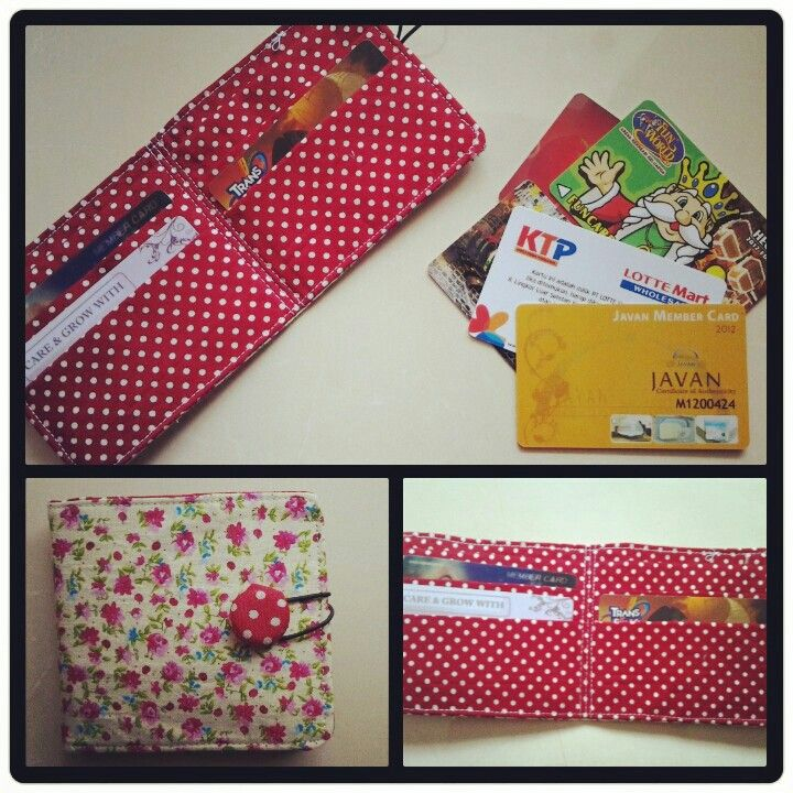 Fabric card wallet. The tutorial in sew love sew board