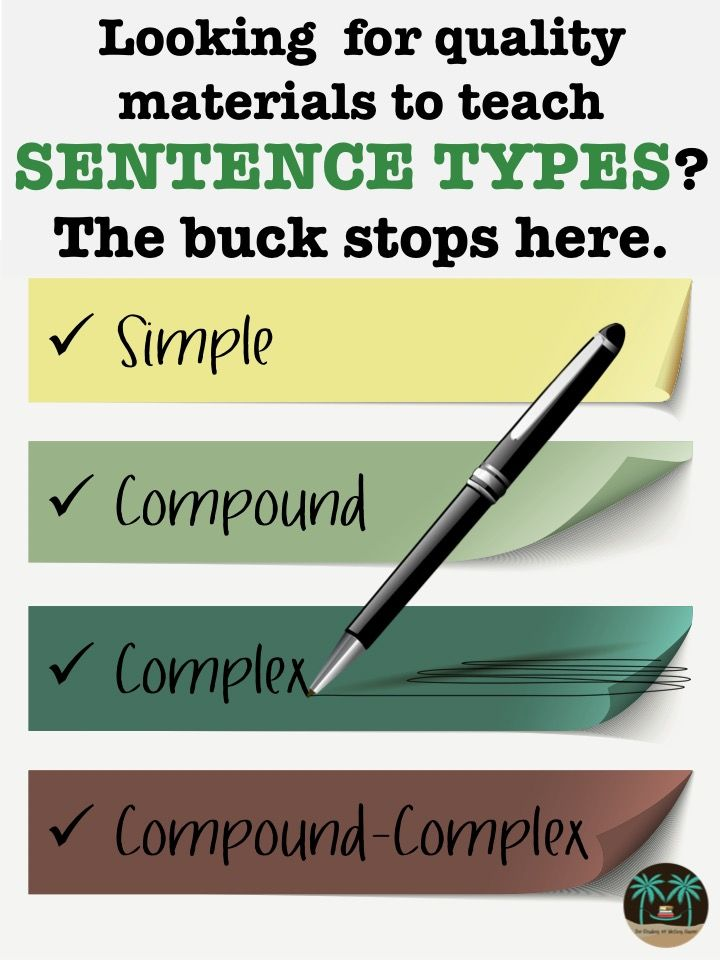 Dependable resources for teaching sentence types. When students master this concept, their writing talents begin to soar.