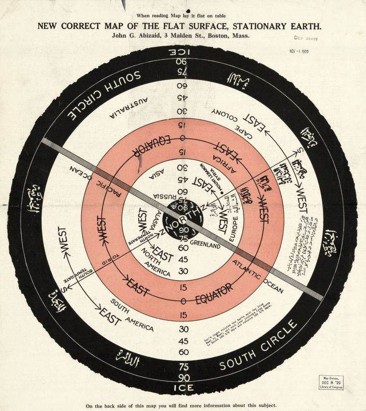 New correct map of the flat surface, stationary earth | Library of Congress