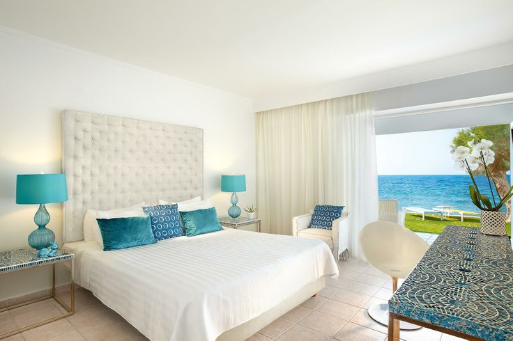 Fresh New Guestrooms inspired by the blues and whites of Greek islands