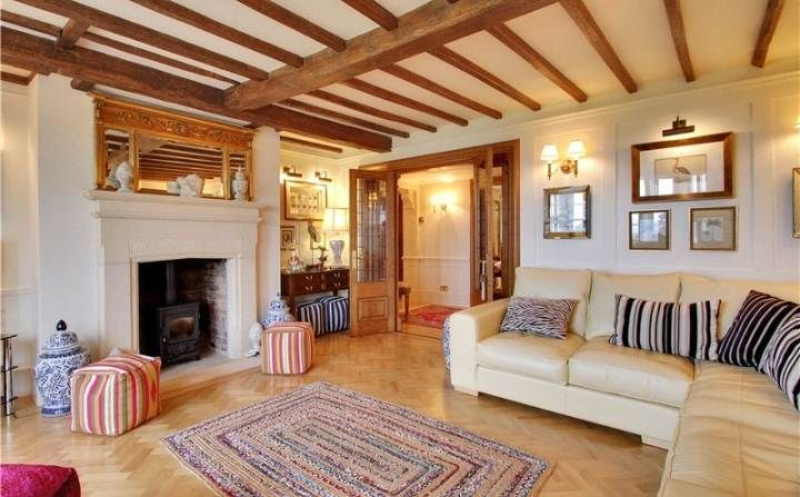 We made the beautiful double doors in this light and airy sitting room. www.mountshill.com